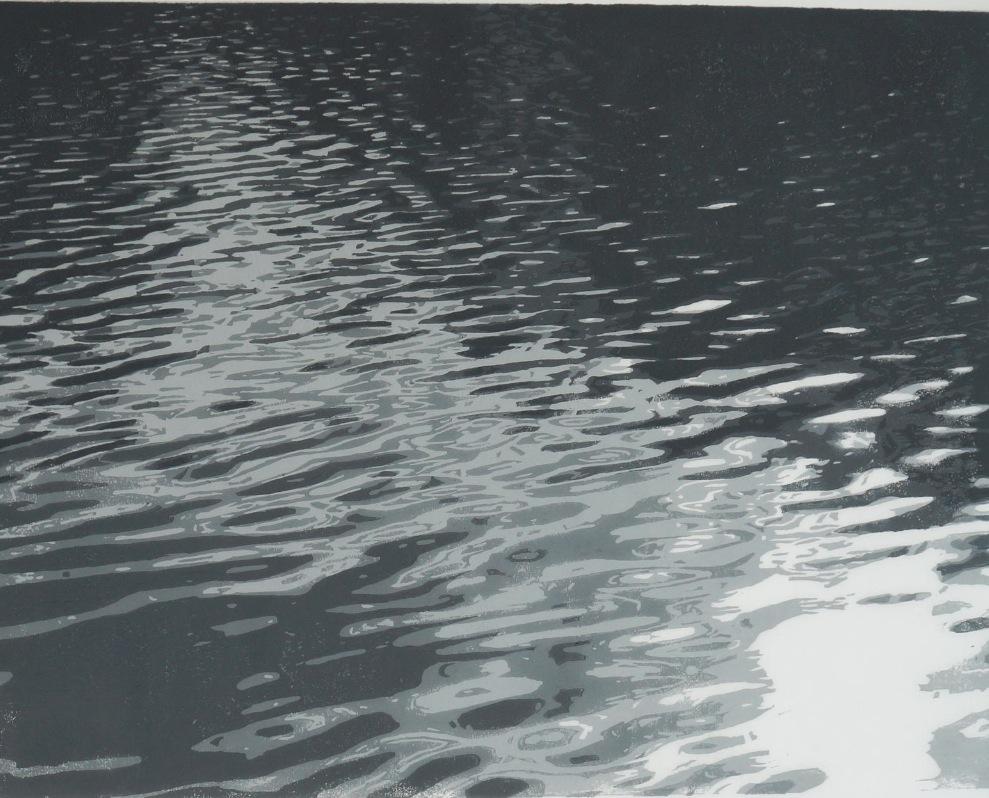 Gravure lino à plaque perdue