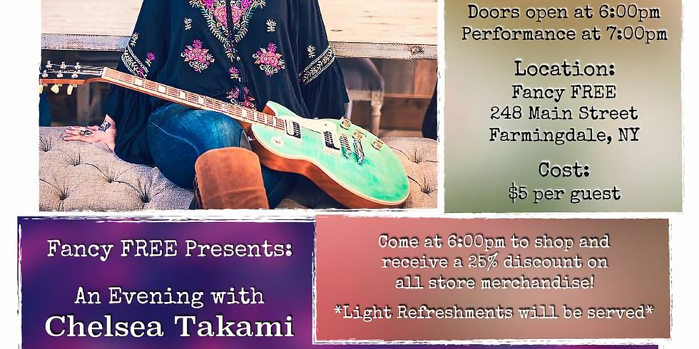 An Evening with Chelsea Takami, Farmingdale