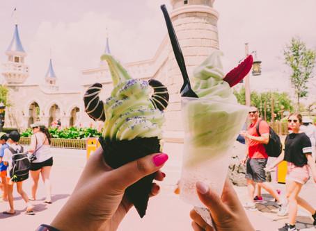 Jolene eats at Disney's Magic Kingdom