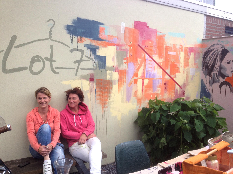 Muurschildering Lot 7
