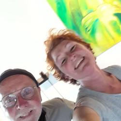 Met Jos van der Donk (beelden) inrichten op Perron15