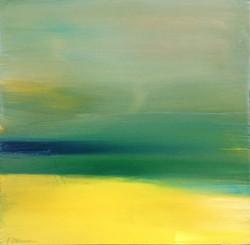 Zeezicht zomer 13,5x13,5 cm