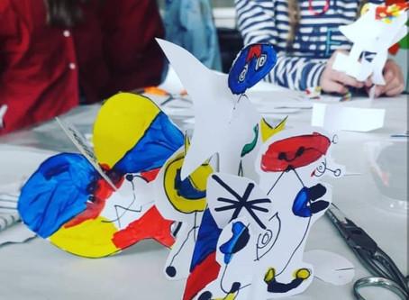 KunstKlas geïnspireerd door Miro!
