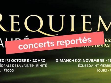 Tournée de concerts reportée