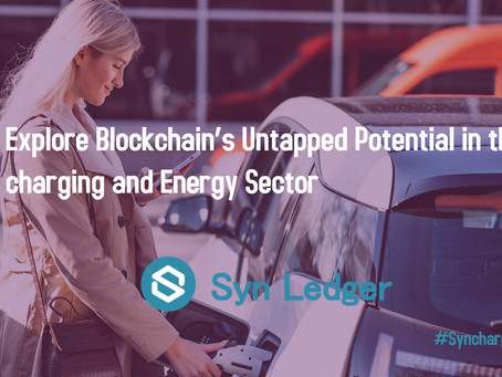 Syn Ledger is creating a P2P Marketplace for Electric Vehicle Charging infrastructure
