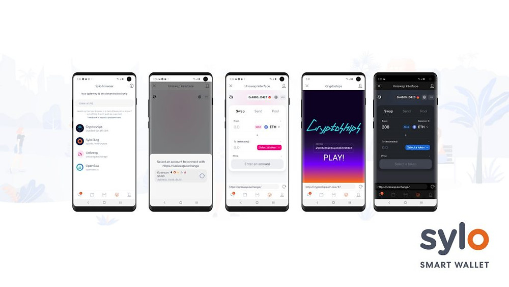 The in-app browser maximises where Sylo Smart Wallet users can spend their crypto.