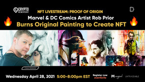 NFT Livestream: Watch Original Painting Burn As NFT Is Created By World-Renowned Marvel & DC Co