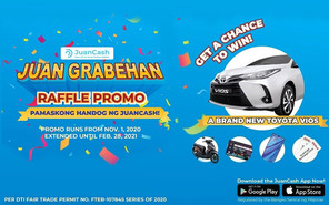 Drive home a brand-new car with JuanCash Grabehan Raffle Promo