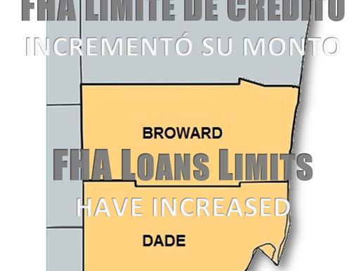 FHA Incremento su Monto en $11,500 ● FHA Increase to $ 11,500