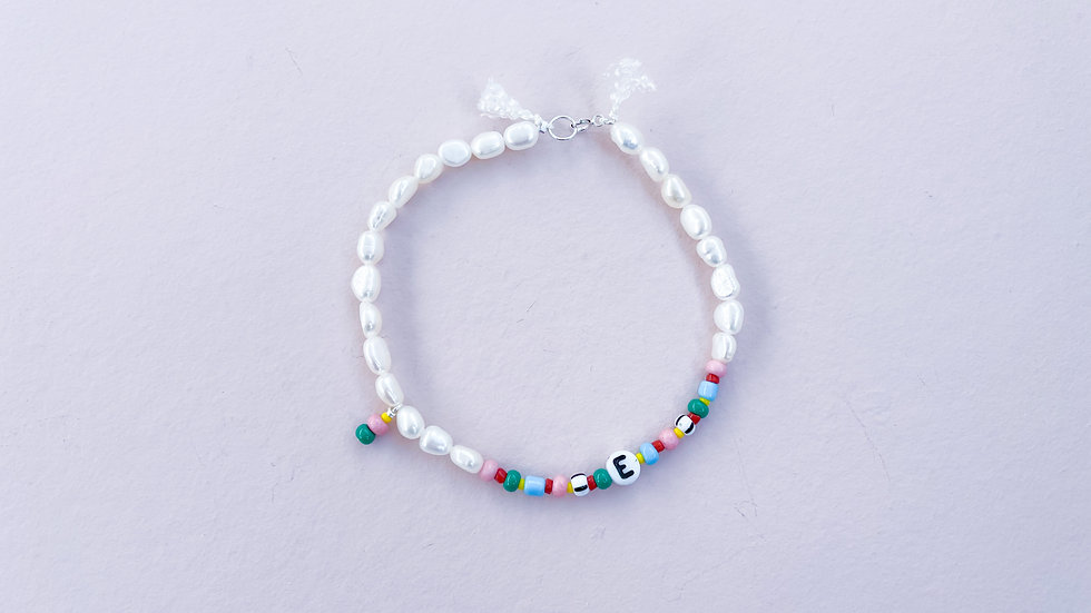 The Candied Pearl Initial Bracelet