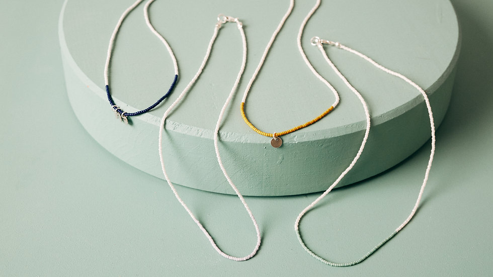 """The Two-tone Necklace 