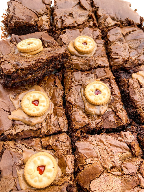 Jammy Dodger Brownies