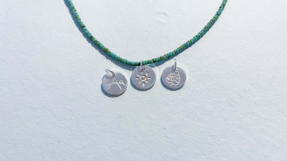 Large Hand-stamped Disc Pendant