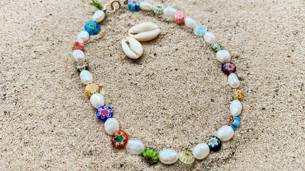 The Millefiori Pearl Anklet