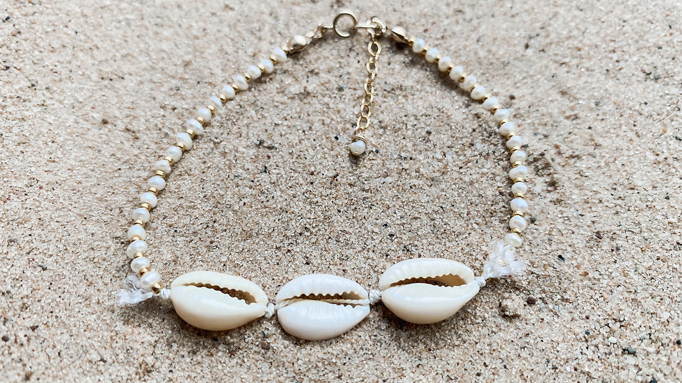 The Cowrie Pearl Anklet