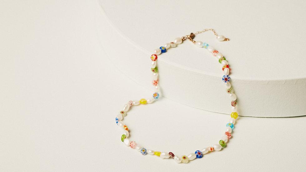 The Millefiori Pearl Necklace