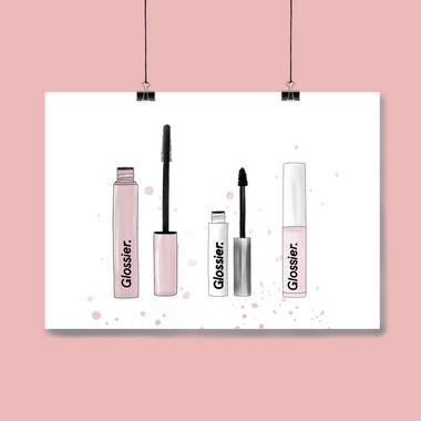 Glossier Makeup Selection