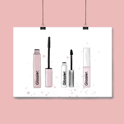 Glossier Makeup Selection