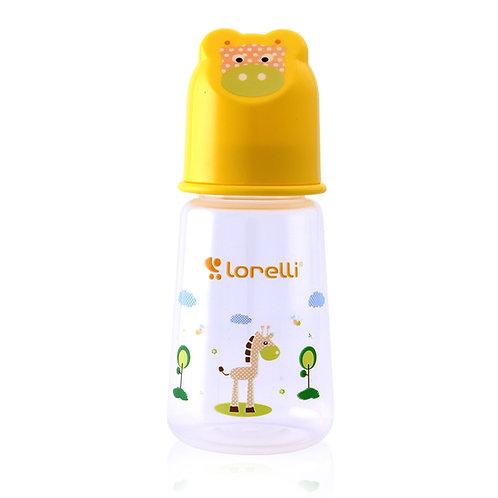 Μπιμπερό Lorelli Πλαστικό 125ml ANIMALS Character Hood Κίτρινο
