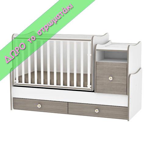 3581cb30421 Βρεφικό Κρεβάτι Lorelli Bertoni TREND PLUS 167 x 72 + Δώρο Στρώμα