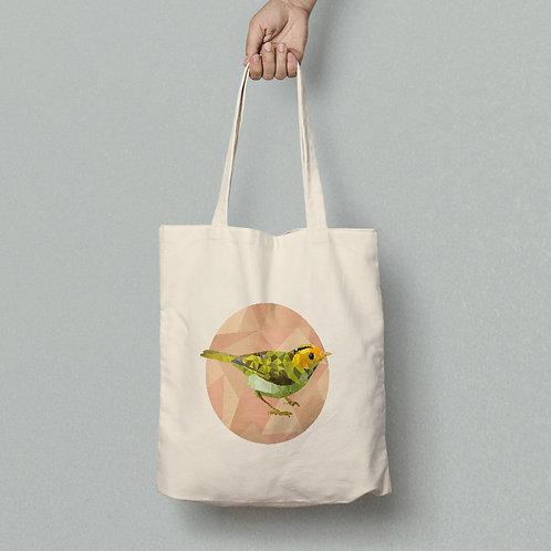 תיק צד כותנה ציפור