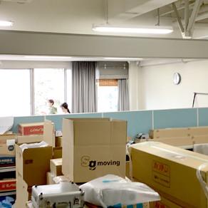 学生室と実験室の掃除