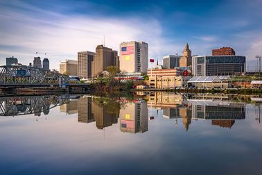 Newark, New Jersey, USA skyline on the P