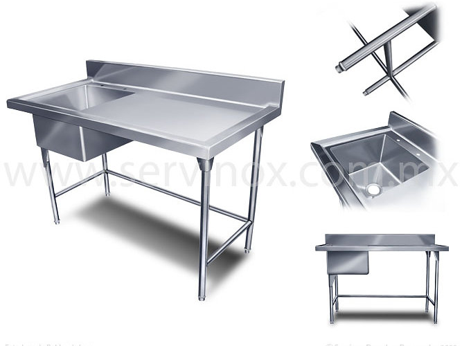 Mesas de trabajo para cocina finest cocina con mesa de - Mesas de trabajo para cocina ...