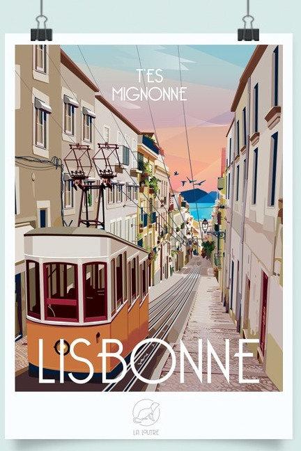 Affiche Lisbonne