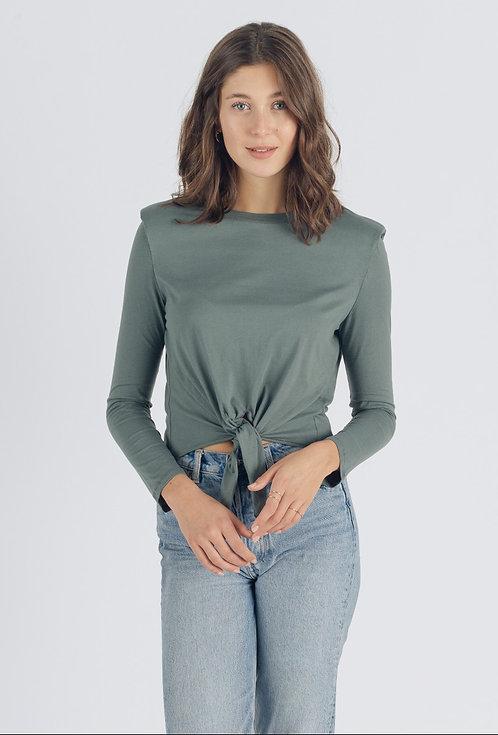 T-shirt manches longues avec noeud.