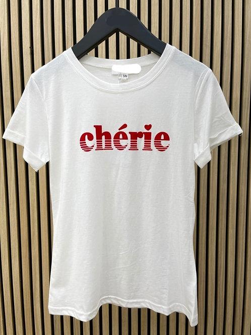 """T-Shirt """"Chérie"""""""