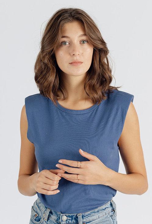 T-shirt sans manches épaulettes