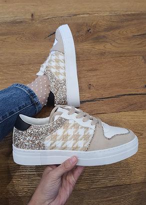 Baskets pieds de poule