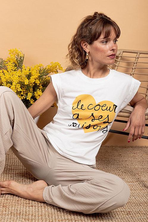 """T-Shirt""""le coeur à ses raisons"""""""
