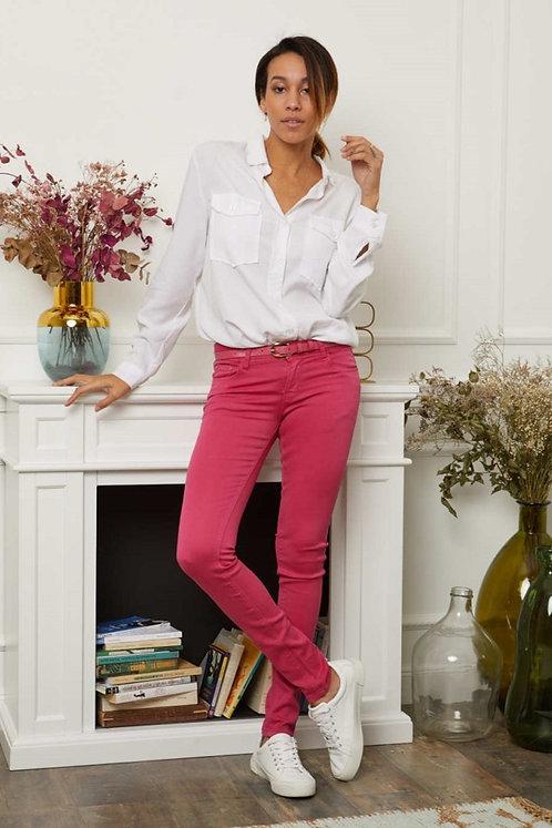 Pantalon Skinny Rose fuchsia