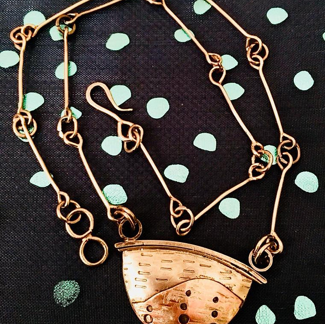 Custom Pendant with Handmade Chain, Gold