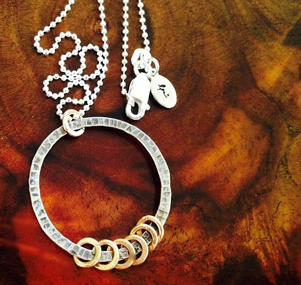 Necklace Commemorating the Eternal Spirit of Women, Sterling with Gold Accents
