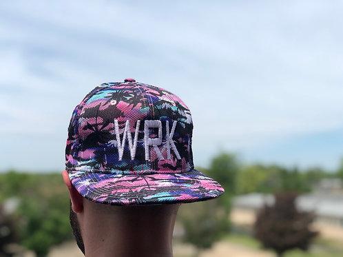 """""""WRK"""" SnapBack Floral Purple"""