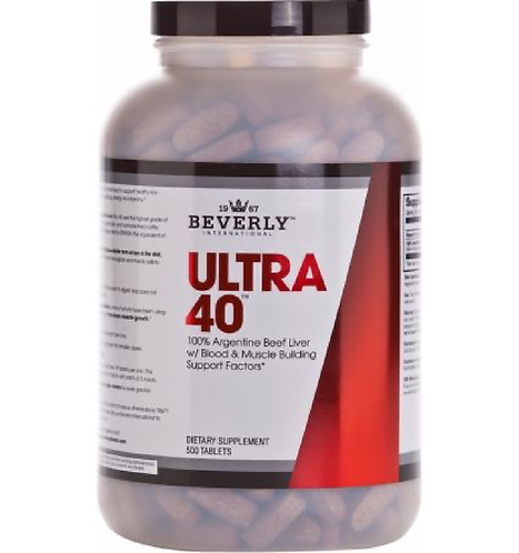 ULTRA 40 - BEEF LIVER TABS