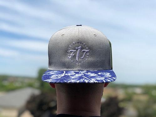 Blue Floral F1T SnapBack