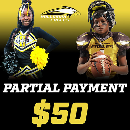 PARTIAL PAYMENT FOOTBALL/CHEER