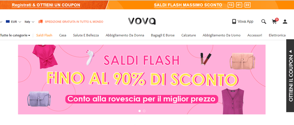 reputable site 51129 5ace3 Vova, lo shop online economico, è affidabile?