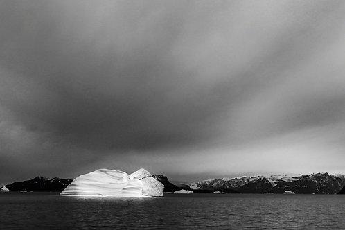 Iceberge in Black and White
