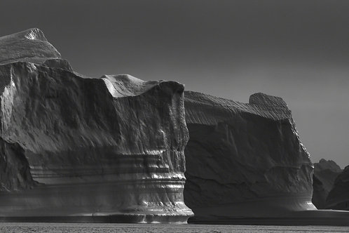 Icebergs in black and white #2