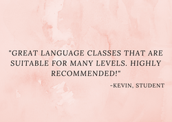 Great language classes that are suitable