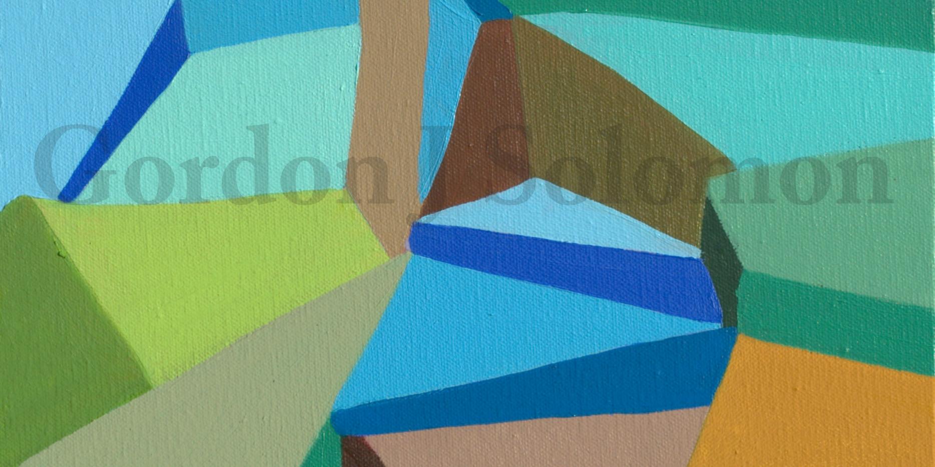 Skip Rope-Triptych  3 pieces  12x24 #2.j