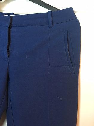 Tříčtvrteční dámské kalhoty - modré