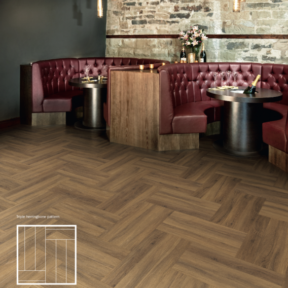 Oak Herringbone LVT