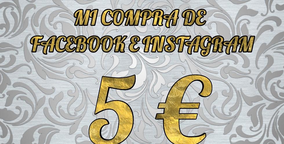 Finaliza tu compra de Facebook e Instagram selecionando el importe.