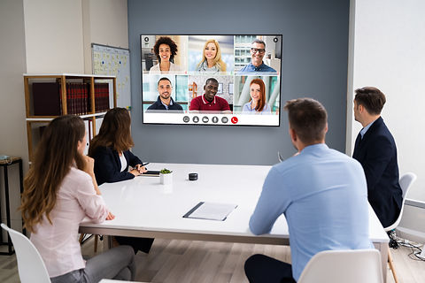 Aug 21 - Online Video Conference Social Distancing Business Meeting stock photo.jpg